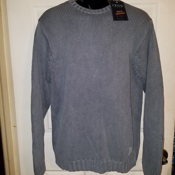 Izod Other - IZOD Jeans Dusty Blue Pullover Sweater Medium Knit